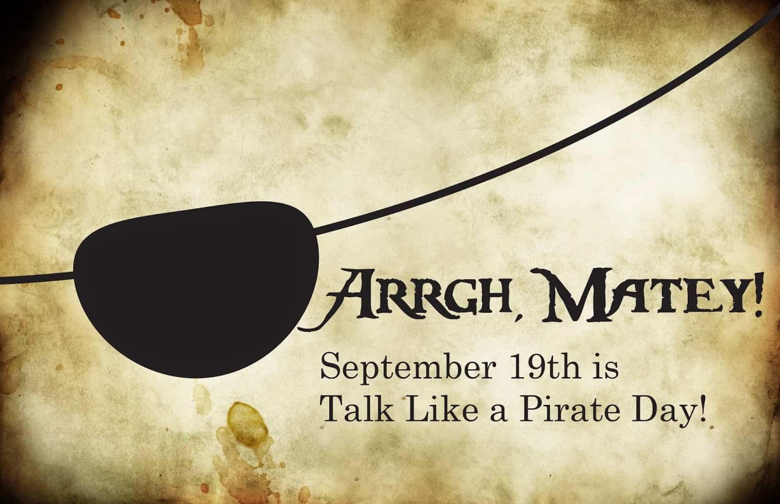 International Talk like a Pirate Day - National Awareness Days Calendar 2021